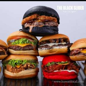 The Black Slider Burger Restaurant Ardiya in kuwait