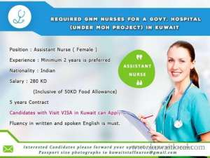 req-female-gnm-nurses-asst-nurse-staff-nurse in kuwait