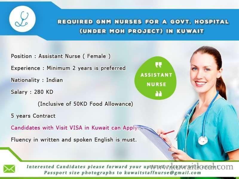 req-female-gnm-nurses-asst-nurse-staff-nurse-kuwait
