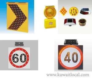 various-solar-powered-traffic-lights in kuwait