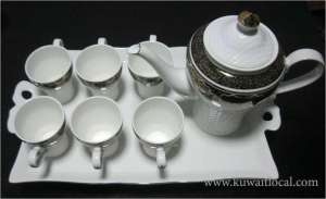 new-black-tea-set-with-tray in kuwait