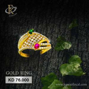 captivating-gold-ring-for-women-22kt-purity-fkjrn1506 in kuwait