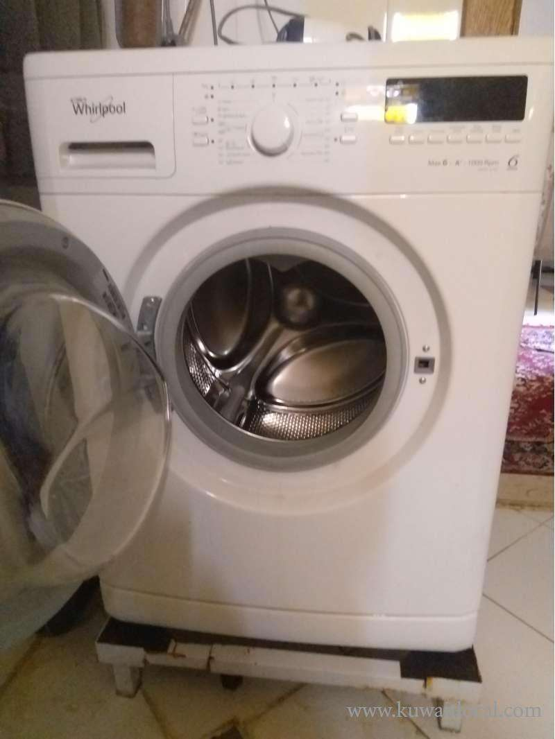 whirlpool-washing-machine-for-sale-along-with-stand-and-filter-6-kg-12-programs-kuwait