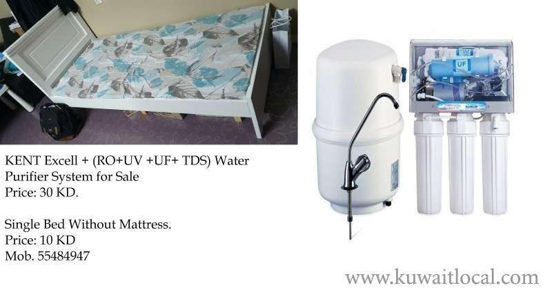 kent-excell--rouv-uf-tds-water-purifier-system--single-bed-for-sale--kuwait