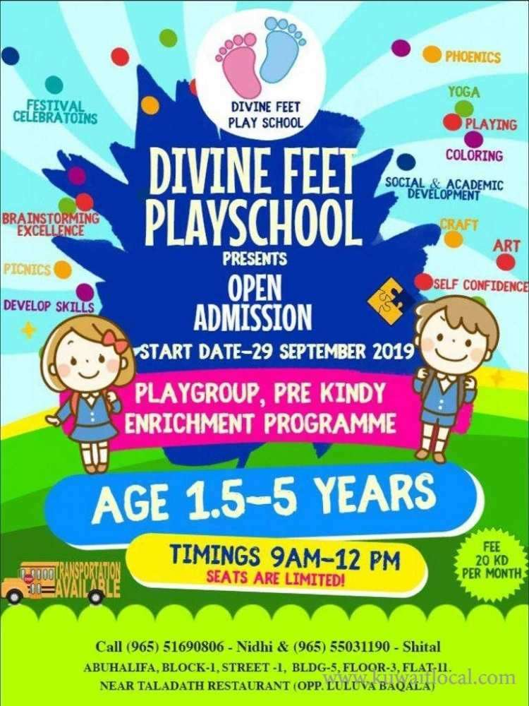 divine-feet-playschool-admission-open--in-abu-halifa-block1-kuwait