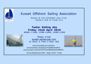 free-sailing-event-with-the-kuwait-offshore-sailing-association,-kosa in kuwait