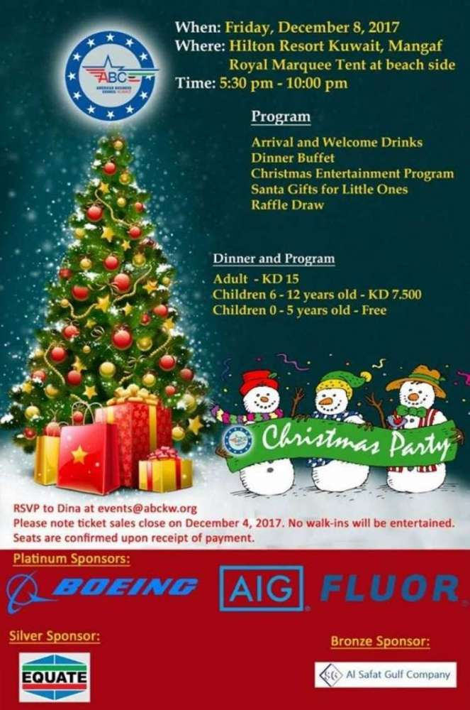 ABC Christmas Party | Kuwait Local
