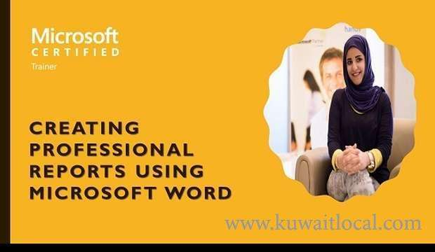 creating-professional-reports-using-microsoft-word-kuwait