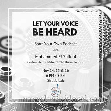 let-your-voice-be-heard-a-podcast-workshop-kuwait
