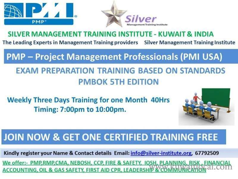 Kuwait Local Pmp Free Seminar Invitation Silver Management