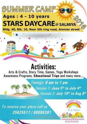 stars-daycare-to-hold-summer-camp_kuwait
