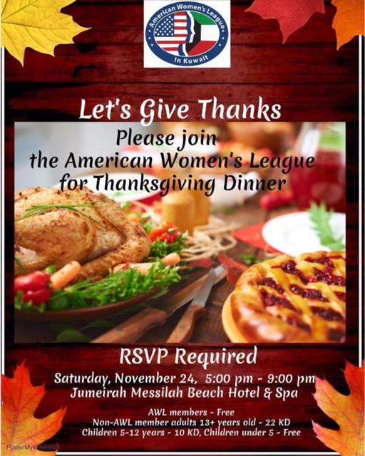 the-american-women-league-for-thanksgiving-dinner-kuwait