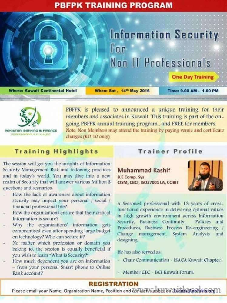 training-'information-security-for-non-it-professionals'-kuwait