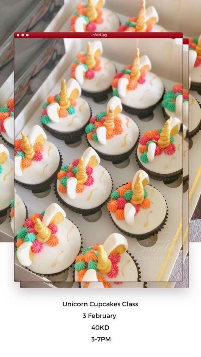 unicorn-cupcakes-decorating-class-kuwait