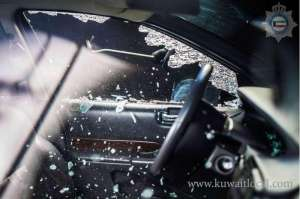 syrian-arrested-for-stealing-cars-by-smashing-the-car-glass_kuwait