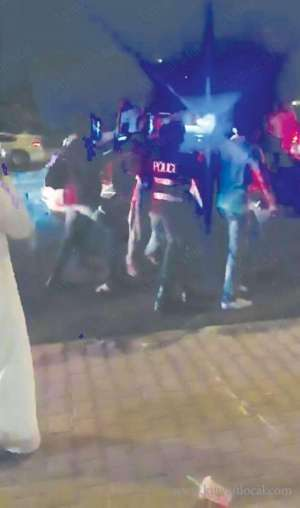 drunk-citizen-hit-a-patrol-car-with-his-vehicle-when-policemen-stopped-him-in-al-dhahar-area_kuwait