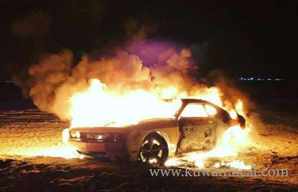 fire-broke-out-in-a-vehicle-on-sixth-ring-road_kuwait