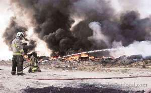 fire-erupts-in-pile-of-used-tyres-in-scrapyard_kuwait