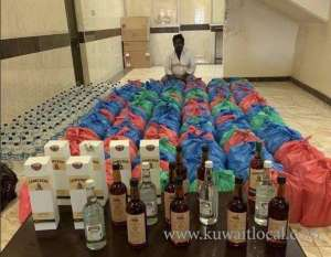 asian-expat-arrested-for-peddling-1200-bottles-of-local-and-foreign-liquor_kuwait