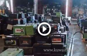 customs-officers-have-seized-a-40foot-container-cargo-of-used-car-batteries_kuwait