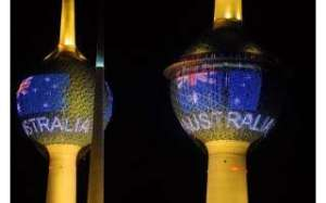 kuwait-towers-gleaming-with-colored-lights-of-australia-flag-on-country-national-day_kuwait