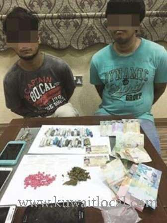 two-men-held-with-drugs_kuwait