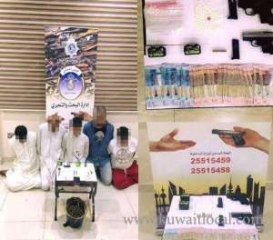 6-held-with-drugs-and-weapons_kuwait
