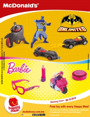 happy-meal-offer---barbie-and-batman in kuwait