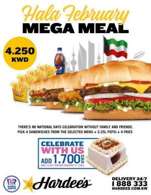 hardee's-and-baskin-robbins-mega-meal in kuwait