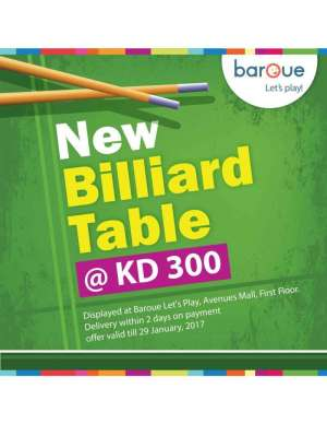 new-billiard-table in kuwait