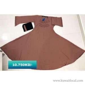 sale-sale-cinderella-style-dark-nude-color-gown-model-flayed-abaya-kuwait